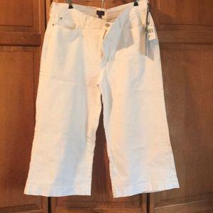 Nydj wide leg white jeans